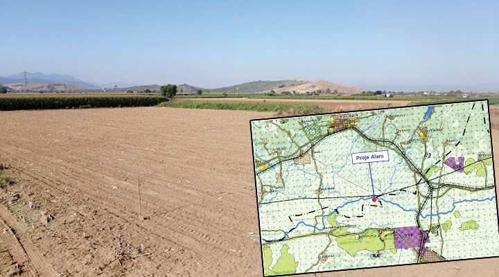 Tarımsal araziler bir bir yok oluyor: İzmir'de tarım arazisine kum-çakıl ocağı yapılacak!