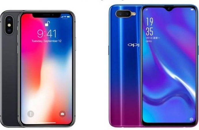 Oppo RX17 Neo  Apple iPhone X'e karşı